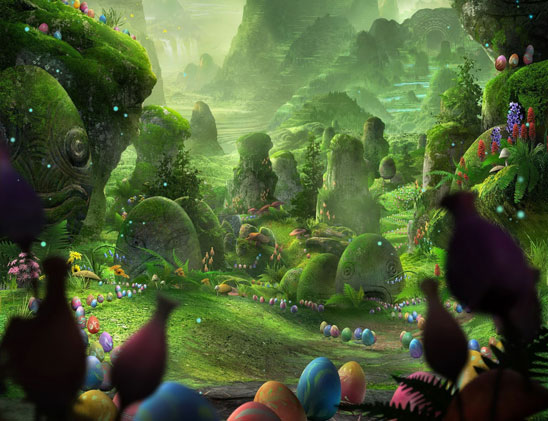 Rise of the Guardians - Easter Den