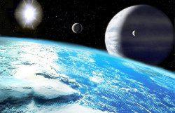 UpsilonAndromedae_D_moons By Luciano S. Méndez