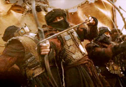 LoTR: the darker, turban-wearing people are the natural allies of Sauron.