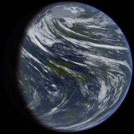 Terraformed Venus by Ittiz at en.wikipedia