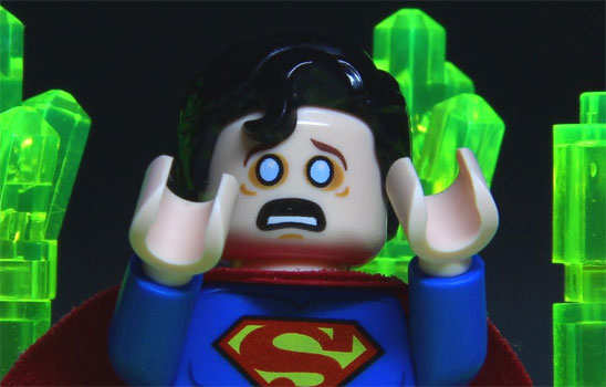 Even Lego Superman is better with kryptonite.