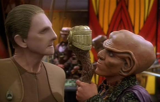 Odo and Quark become friends, but still remain adversaries.