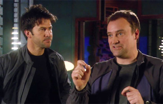 In Stargate Atlantis, Sheppard and McKay spend many scenes alone together, allowing tension and intimacy to build.
