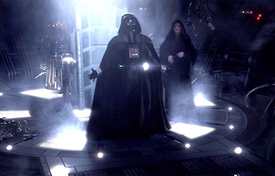 "No one can help laughing at the end of Revenge of the Sith, when Anakin/Vader cries ""Noooooooooooo!"""