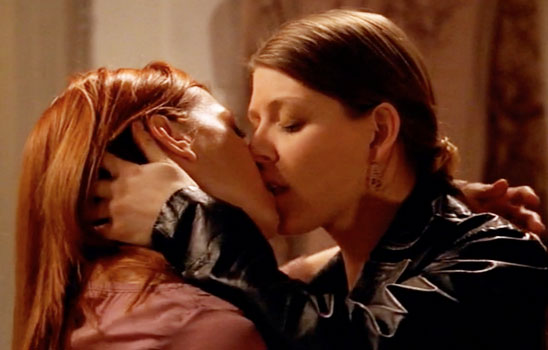Willow and Tara, a fantastic canon couple from Buffy the Vampire Slayer.