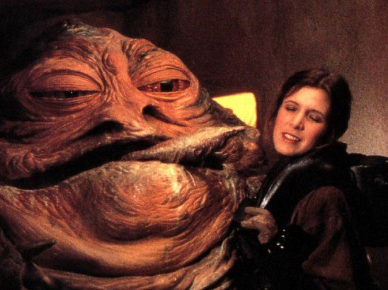 Jabba's affections aren't returned by Leia