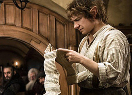 Bilbo requires a bit of convincing before undertaking the quest.