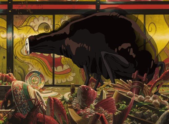 Spirited Away's Noface is a classic picture on unending hunger.