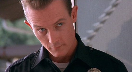 In Terminator 2, the T1000 is threatening not just because he's so malleable, but because he can impersonate humans to manipulate them. He uses a police officer guise to questions John's foster parents.