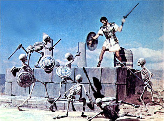 Instead of skeletons, imagine Jason and his Argonauts fighting bears. Little has changed