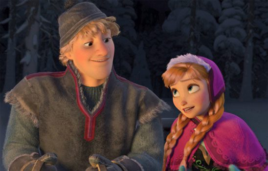 Anna and Kristoff from Disney's Frozen