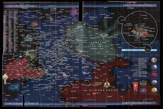 Map of the Star Trek universe.