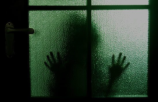 Shadow outside door