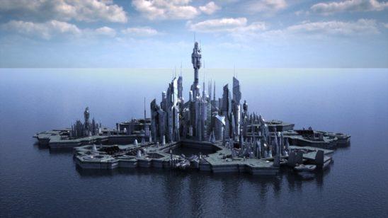 The city of Atlantis from Stargate: Atlantis.