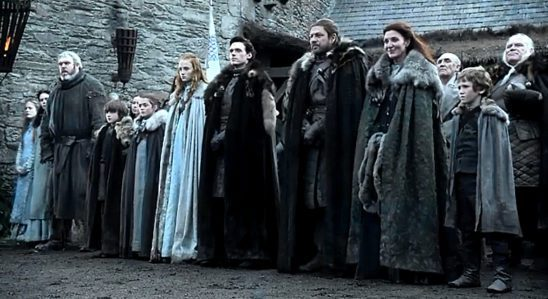 The Stark family and their retainers from Game of Thrones.