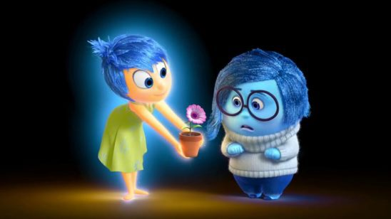 Joy and Sadness from Inside Out