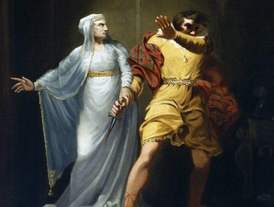 Lady Macbeth telling her husband what's what.