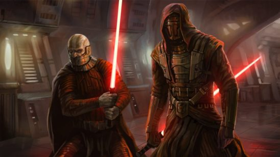 Darth Malice and Darth Revan from Knights of the Old Republic.