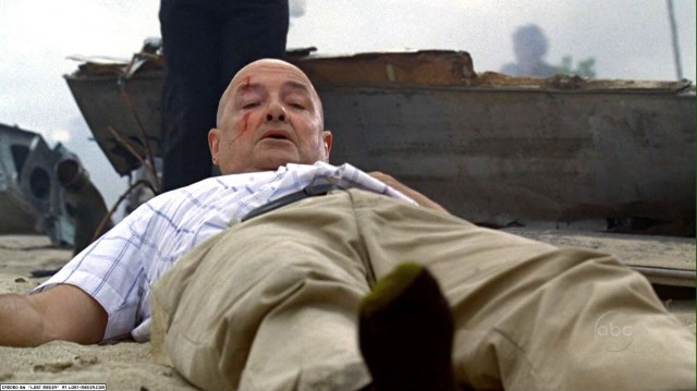 John Locke wakes up and wiggles his toes
