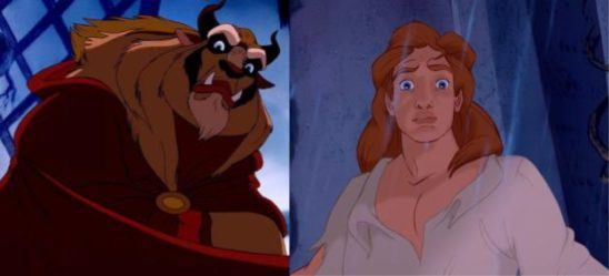 The Beast and the Prince side by side.