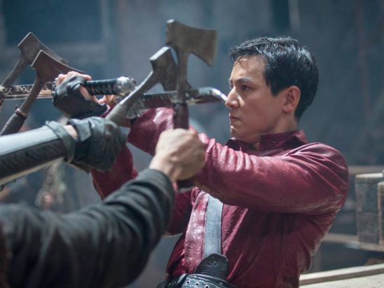 Sunny from Into the Badlands blocking four axes at once.
