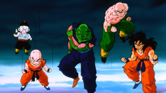 Chaozu, Krillin, Piccolo, Tien, and Yamcha from DBZ.
