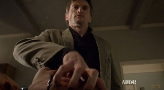 Deucalion killing his lieutenant in Teen Wolf.