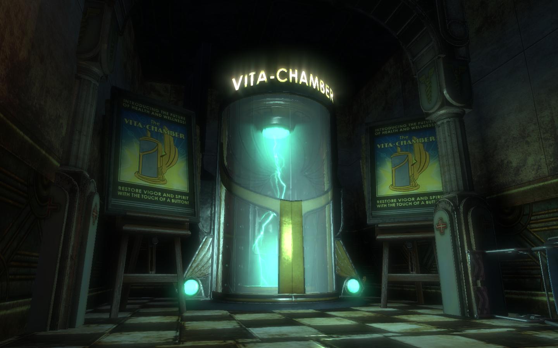 A vita-chamber from Bioshock.