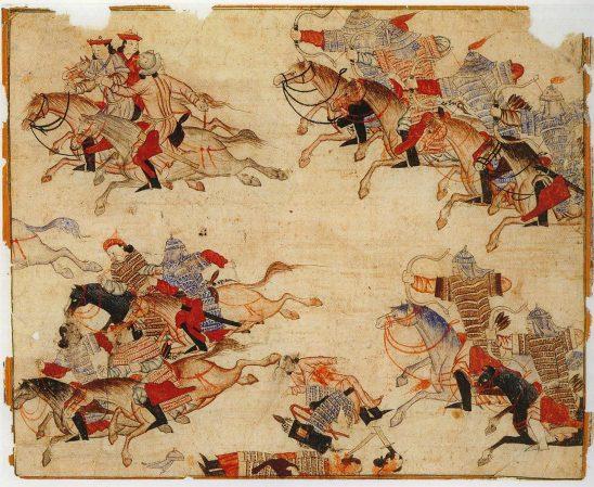 Mongol horse archers.
