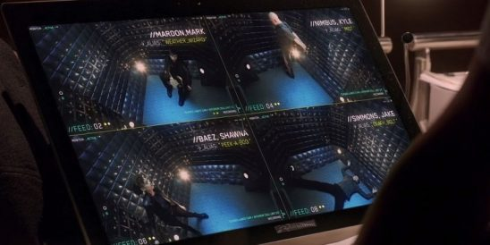 An iPad showing the cells from The Flash.
