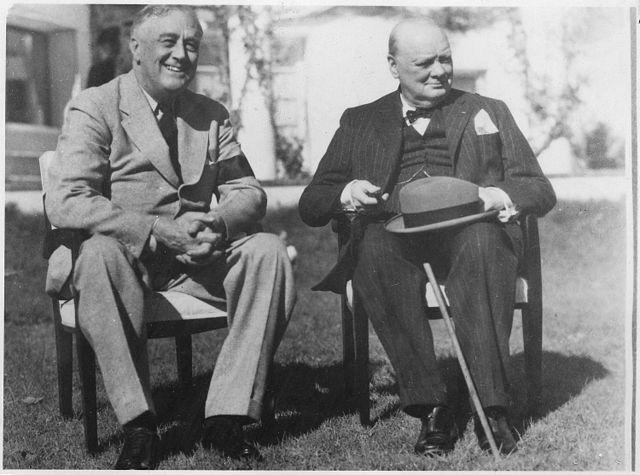 President Franklin Roosevelt and Prime Minister Winston Churchill