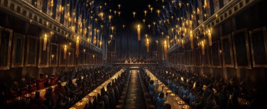 The Hogwarts grand hall.