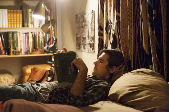 Quentin reading his in The Magicians.