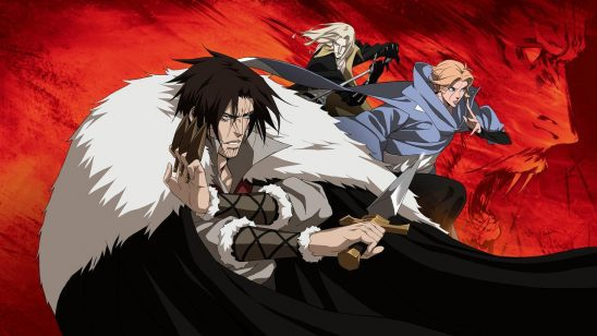 Trevor, Sypha, and Alucard from Castlevania