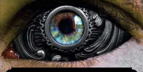 A mechanical eye, cover art from the difference engine.