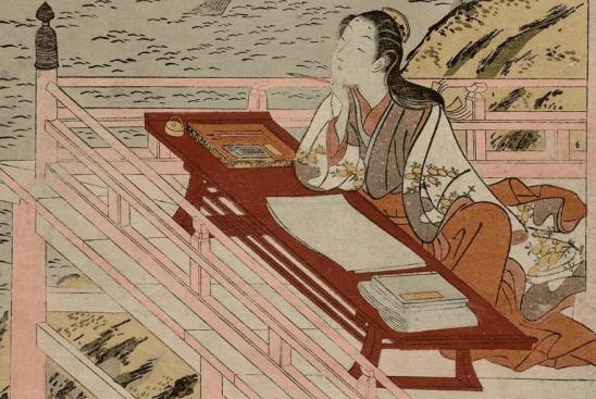 A portrait of Lady Murasaki, author of Genji.