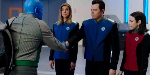 Darulio, Grayson, Mercer, and Kitan from The Orville