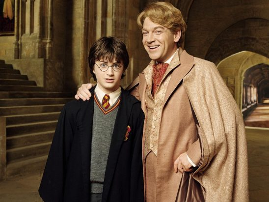 Harry Potter and Gilderoy Lockhart from the Chamber of Secrets film.