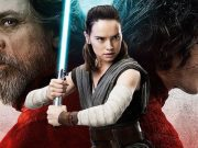 Luke, Rey, and Kylo from The Last Jedi