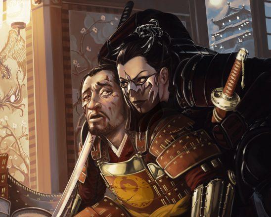 Two samurai from L5R art.