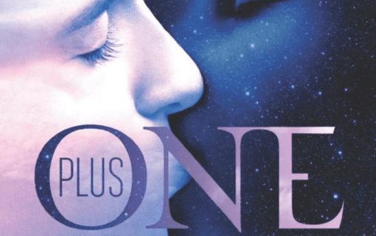 Stylized kissing from the cover of Plus One
