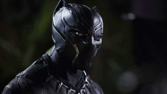 Black Panther wearing his suit.