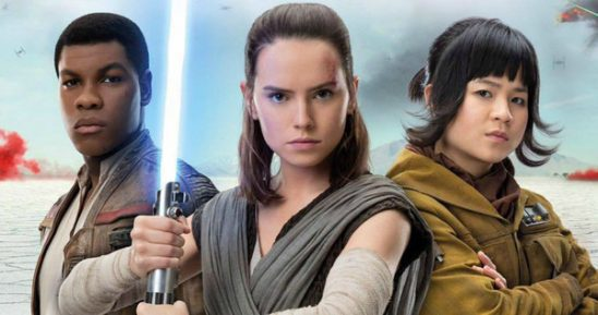 Finn, Rey, and Rose from Episode 8.