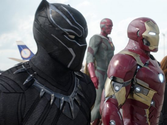 Black Panther, Iron Man, and Vision from Civil War.