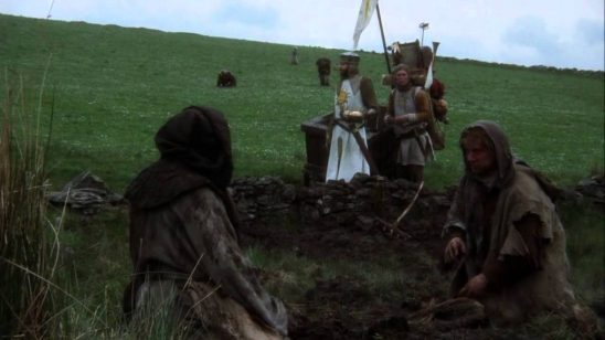 King Author and the rebellious peasants from Monty Python and the Holy Grail.