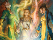 Aes Sedai from Wheel of Time Cover Art