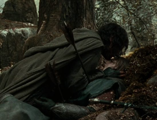 Boromir's death scene from Fellowship of the Ring