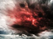 An explosion in the clouds