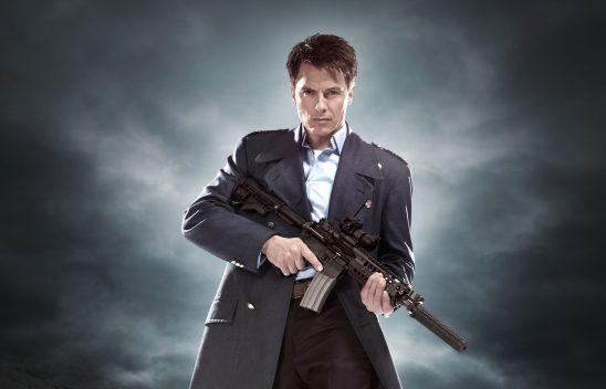 Captain Jack with a big gun.