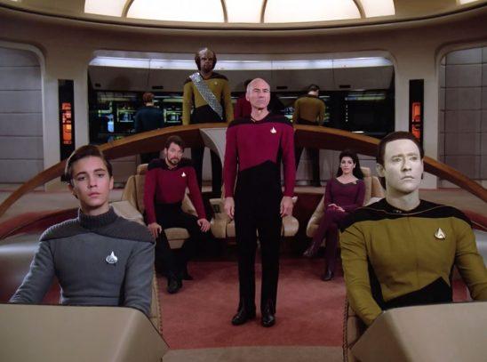 Bridge crew of Star Trek: The Next Generation